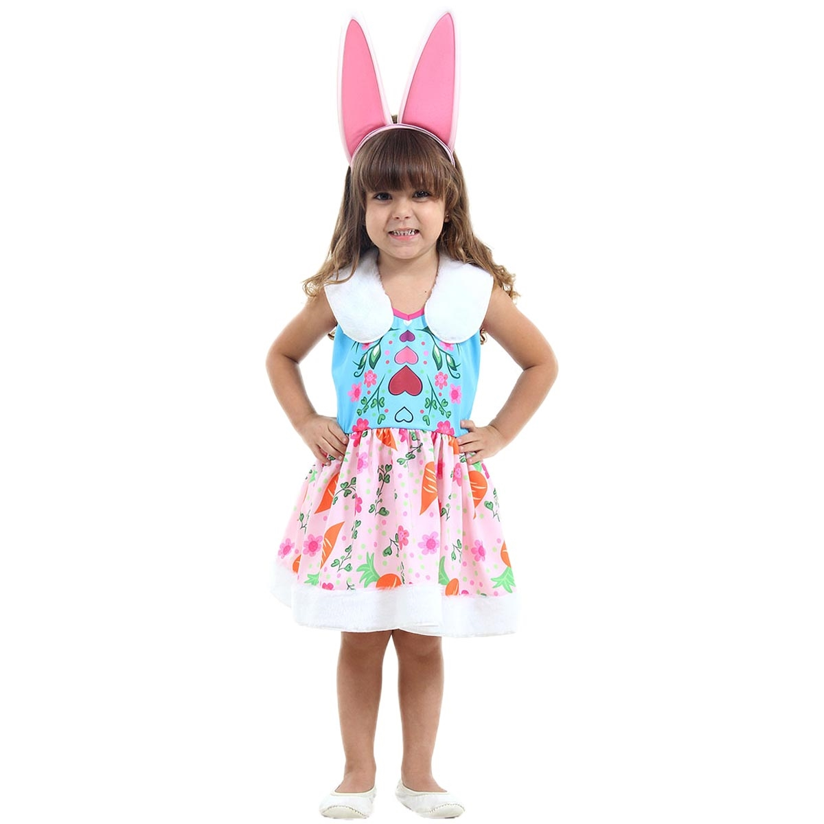 fd6574a08 Fantasia Enchantimals Infantil Coelha Bree Bunny - FantasiasCarol