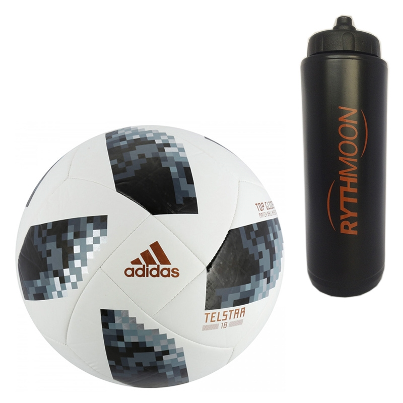 93748dbcc1 Kit Bola Futebol Campo World Cup Russia 2018 Top Glider Adidas + Squeeze  Automático 1lt
