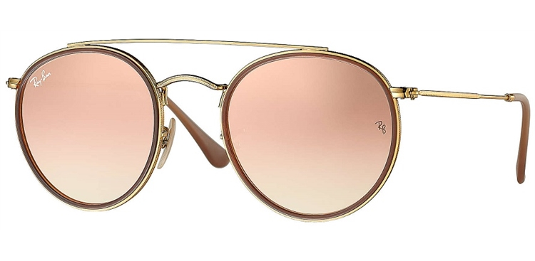 3ba8810128c0c RAY BAN RB 3647N 001 7O 51 ROUND DOUBLE BRIDGE - ÓCULOS DE SOL ...